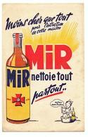 Buvard Mir Nettoie Tout Partout Même Mon Toutou - Buvards, Protège-cahiers Illustrés