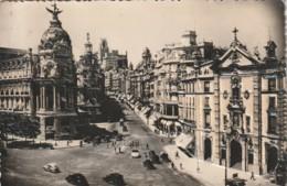 *** MADRID  Avenida De José Antonio - CURIOSITE *  Carte Avec Relief  Sur Les Monument Et Voitures - TTB  écrite - Madrid
