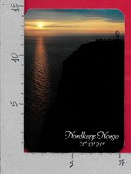 "CARTOLINA VG NORVEGIA - NORDKAPP 71° 10' 21"" - 10 X 15 - ANN. 1982 RUSSENES - Norvegia"