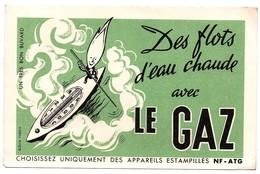 Buvard Des Flots D'eau Chaude Avec Le Gaz Thermomètre Barque Rame - Buvards, Protège-cahiers Illustrés