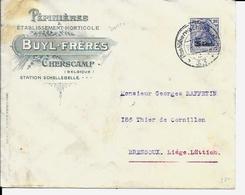 Lettre Deutsches Reich  - CHERSCAMP  ( Wichelen )   Buyl Frères - Guerre 14-18