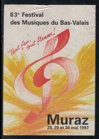Rare // Etiquette De Vin // Musique //  Muraz, 63ème Festival Des Musiques Du Bas-Valais - Musique