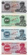 Angola SPECIMEN SET 1976. UNC - 50,100,500 And 1000 Kwanzas - Angola