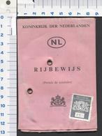 Oud Linnen Rijbewijs 18 Maart 1966 - 1971 Met Leges Zegel F 5.00 Gulden ,  Scans  For Condition. ( Originalscan !!! ) - Transporttickets