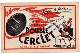 Buvard Charbons  Foyer Yvetot Boulet Double Cerclet - Buvards, Protège-cahiers Illustrés