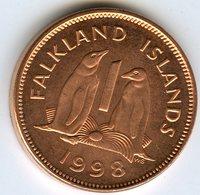 Falkland Malouines 1 Cent 1998 UNC KM 2a - Falkland