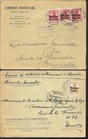 2 X Lettre Deutsches Reich  - Ottelet De LAROCHE + Employé Propriétaire  ANTWERPEN - Guerre 14-18