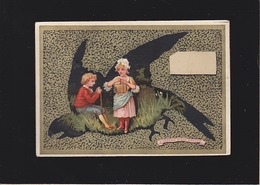 Chromo XIXè - Chocolat Sans Rival, Tours - L'oiseau S'est Envolé (curiosité : Image Dans L'image - Chocolat