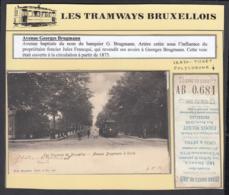 """BELGIQUE CP TRAMWAYS BRUXELLOIS """"AVENUE BRUGMANN A UCCLE """" TRAM  + TICKET DE TRAM (DD) DC-1404 - Belgique"""