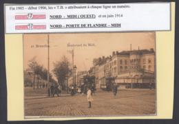 """BELGIQUE CP TRAMWAYS BRUXELLOIS """"BOULEVARD DU MIDI"""" TRAM 17 (DD) DC-1408 - Belgique"""