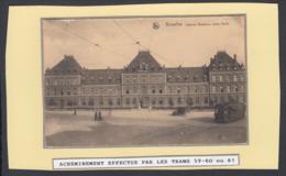 """BELGIQUE CP TRAMWAYS BRUXELLOIS """"CASERNE BAUDOUIN"""" TRAM 60(DD) DC-1411 - Belgique"""