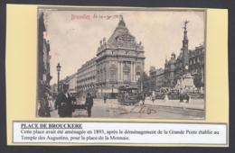 """BELGIQUE CP TRAMWAYS BRUXELLOIS """"PLACE DE BROUCKERE"""" (DD) DC-1413 - Belgium"""