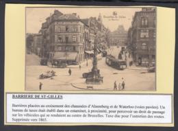 """BELGIQUE CP TRAMWAYS BRUXELLOIS """"LA BARRIERE St GILLES"""" (DD) DC-1414 - Belgique"""