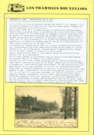 """BELGIQUE CP TRAMWAYS BRUXELLOIS """" BOULEVARD MILITAIRE """" + DESCRIPTIF (DD) DC-1421 - Belgium"""