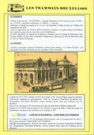 """BELGIQUE CP TRAMWAYS BRUXELLOIS """" GARE DU MIDI """" + DESCRIPTIF (DD) DC-1422 - Belgique"""