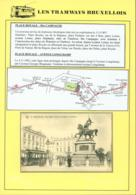 """BELGIQUE CP TRAMWAYS BRUXELLOIS """"PLACE ROYALE """" + DESCRIPTIF (DD) DC-1430 - Belgique"""