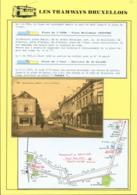 """BELGIQUE CP TRAMWAYS BRUXELLOIS JETTE_SAINT_PIERRE """"RUE LEON THEODORE """"+ DESCRIPTIF (DD) DC-1433 - Belgien"""