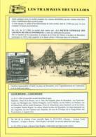 """BELGIQUE CP TRAMWAYS BRUXELLOIS """"PLACE DE BROUCKERE"""" + DESCRIPTIF (DD) DC-1440 - Belgique"""