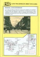 """BELGIQUE CP TRAMWAYS BRUXELLOIS """"BOULEVARD ANSPACH"""" + DESCRIPTIF (DD) DC-1442 - Belgien"""