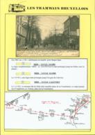 """BELGIQUE CP TRAMWAYS BRUXELLOIS """"CHAUSSEE D' ALSEMBERG """" ARRET DU TRAM+ DESCRIPTIF (DD) DC-1445 - Belgique"""