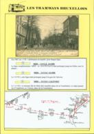 "BELGIQUE CP TRAMWAYS BRUXELLOIS ""CHAUSSEE D' ALSEMBERG "" ARRET DU TRAM+ DESCRIPTIF (DD) DC-1445 - Belgium"