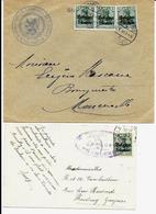 2 X Lettre Deutsches Reich  - FLEURUS ( CHARLEROI ) Administration Communale - Guerre 14-18