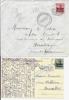 2 X Lettre Deutsches Reich  - BERTRIX + ARLON - Guerre 14-18