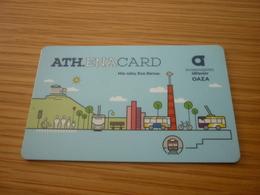Greece Grece Greek Athens Transportation Plastic Card Used Ticket For Bus/tram/train/metro (Athena Card) - Transportation Tickets