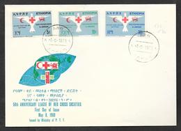 ETHIOPIA F.D.C. FIRST DAY ISSUE 1969 ASSAB 50° ANNIVERSARY LEAGUE OF RED CROSS - Etiopia