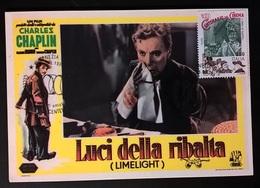 CARTOLINA LUCI DELLA RIBALTA (CHARLIE CHAPLIN) - Cinemania