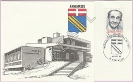 Carton Invitation - Inauguration Bureau De Poste Annemasse (74) Par Louis Mexandeau (N° Y&T 2298) - Documentos Del Correo