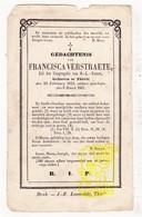 DP Francisca Verstraete ° Tielt 1822 † 1861 - Images Religieuses