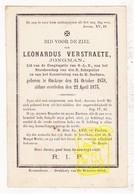DP Leonardus Verstraete 34j. ° Oekene Roeselare 1838 † 1873 - Images Religieuses