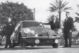 CARTE POSTALE VOITURE CITROËN DS ID 19 - 28ème Rallye Automobile De Monte Carlo De 1959 -  10X15 CM - PKW