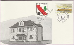 Carton Invitation - Inauguration Nouveaux Locaux Bureau De Poste Sevrier (74) (N° Y&T 2334) - Documentos Del Correo