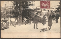 Cpa Cauterets (65) Concours De Skis - Vue D'ensemble (bon Etat) - Cauterets