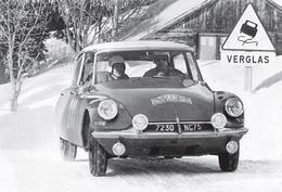 CARTE POSTALE VOITURE CITROËN DS MONTE CARLO 1963 -  10X15 CM - PKW