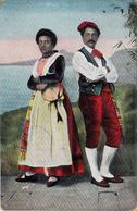 Thematiques Italie Folklore Costumi Di Sorrento La Tartantella Ecrite Cachet - Napoli (Naples)