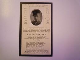 FAIRE-PART De Décès De  Ernest  PFEFFER  Adjudant-Chef Du R.T.S. Du NIGER  (1913 - 1947)   - 1939-45