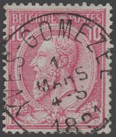 "COB N° 46 - Oblitération ""CONCOURS"" - YVES - GOMEZEE - 1884-1891 Leopold II."