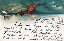 Thematiques Italie Naples Napoli Vesuvio Nel 1872 Timbre Cachet 26 11 1898 - Napoli (Naples)