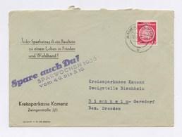 Dienstpost Kreissparkasse Kamenz, 40Pfg Staatswappen, 1955 - DDR