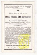 DP Maria Virginia Van Haverbeke ° Izegem 1823 † Roeselare 1889 X J. Verstraete - Images Religieuses