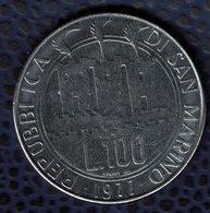 Saint Marin 1977 Pièce De Monnaie Coin 100 Lires La Terre Blessée Par Le Massacre Inutile SU - Saint-Marin