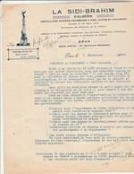 Lettre Illustrée LA SIDI BRAHIM D' Algérie  Amicale Des Anciens Chasseurs à Pied , Alpins Et Cyclistes 4/09/1945 ORAN - Documents Historiques