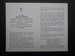 VP BELGIQUE (M1902) DOODSPRENTJE (2 Vues) GUSTAAF TROGH RAMSDONK 3/2/1908 - MECHELEN 23/12/1979 - Décès