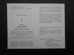 VP BELGIQUE (M1902) DOODSPRENTJE (2 Vues) ELZA TROGH LONDERZEEL 15/5/1931 - DUFFEL 31/3/1983 - Décès