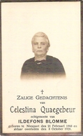 DP. CELESTINA QUAEGHEBEUR ° NIEUPORT 1868 -+ 1928 - Religion & Esotérisme
