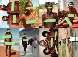 Lot De 8 Photos FKK & Beautées Africaines, Souvenir De Voyages & Nus Artistiques - Nackt, Nude, Nue & Nature - Ethniques, Cultures