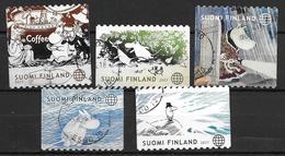 Finlande 2017 N° 2486/2490 Oblitérés Mommines - Finlande